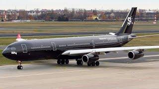 Download RARE! HiFly Airbus A340-300 ALL BLACK [9H-TQM] HEAVY Takeoff from Berlin Tegel (TXL) [Full HD] Video