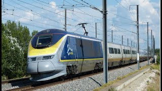 Download High speed train (TGV, Eurostar, Ouigo) in France Video