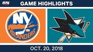 Download NHL Highlights | Islanders vs. Sharks - Oct. 20, 2018 Video