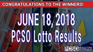 Download PCSO Lotto Results Today June 18, 2018 (6/55, 6/45, 4D, Swertres, STL & EZ2) Video