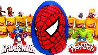 Download Huevo Sorpresa Gigante de Spider-Man (Hombre Araña) en Español Plastilina Play Doh Video