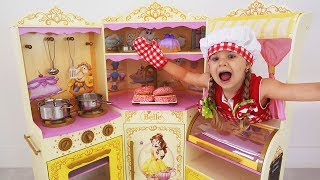 Download Roma and Diana Playing Cafe | Compilation video with food toys Video