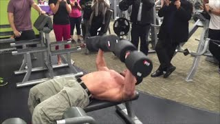 Download 150lb Dumbbell Bench Press For REPS! | Anytime Fitness Markham, ON Video