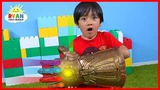 Download Marvel Avengers Thanos Infinity Gauntlet Hasbro Gear Test!!!! Video