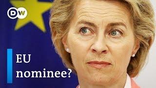 Download Who is EU Commission President nominee Ursula von der Leyen? | DW News Video