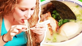 Download People Try Ramen For The First Time Video