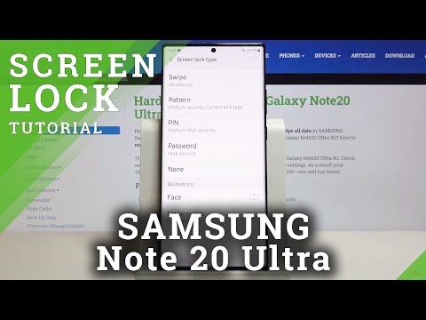 How to Add Screen Lock in SAMSUNG Galaxy Note 20 Ultra – Security Settings