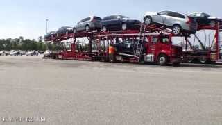 Download Time Lapse of a 9 car Volvo load Video