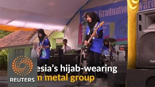 Download Muslim women metal group smashes stereotypes in Indonesia Video