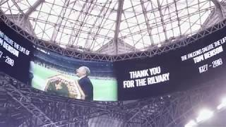 Download Atlanta Falcons pay tribute to Tom Benson during Saints game Video