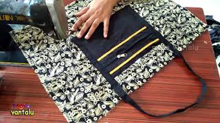 Download Travel Bag New Design Make at home/Cutting and Sewing/ Mana Vantalu Video