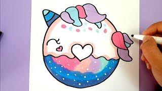 Kawaii Einhorn Malen How To Draw Cute Unicorn Free Download Video
