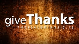 Download Thanksgiving Video - Give Thanks Video
