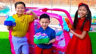 Download Car Wash Song | Wendy Pretend Play This Is the Way Nursery Rhymes & Kids Songs Video