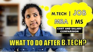 Download What to do after Engineering? MBA or Job or M.Tech or MS? (Fees and Salary Comparison) Video