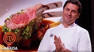 Download Claudio Aprile Cooks A Lamb Dish Alongside The Chefs   MasterChef Canada   MasterChef World Video