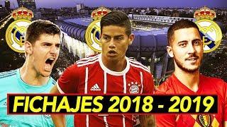 Download James, Hazard y Courtois al Madrid I Fichajes confirmados y rumores 2018 - 2019 Video