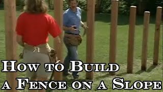 Download How to build a wood fence on slope Video