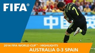 Download AUSTRALIA v SPAIN (0:3) - 2014 FIFA World Cup™ Video
