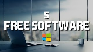 Download 5 Free Software That Are Actually Great! 2018 Video
