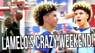 Download LaMelo Ball HISTORIC AAU Weekend! First DUNK, ″ANKLE BREAKER″, & MID-GAME FORFEIT! Video
