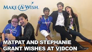 Download MatPat and Stephanie Grant Wishes with Make-A-Wish at VidCon 2017! Video