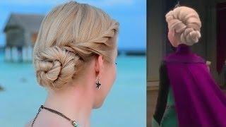 Download Tuto coiffure pour les fêtes/Noël/soirée/mariage: chignon bas d'Elsa de la Reine des Neiges Video
