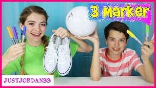 Download 3 Marker Shoe And Soccer Ball Challenge / JustJordan33 Video