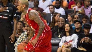 Download Rihanna Caught Eyeing & Attending Chris Brown's BasketBall Game - Rihanna & Chris Brown Dating? Video