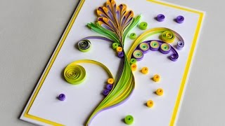 Quilling cards how to make paper quilling greeting card 2017 download how to make greeting card quilling flower step by step kartka okolicznociowa m4hsunfo
