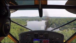 Download YellowBird: Coffee at Baboosic Lake - Seaplane Glassy Water Landing & Takeoff Video