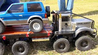 Download Exhibition SLED PULL Competition - Trail Trucks & Traxxas BL ERevo? ″THE JUDGE″ | RC ADVENTURES Video