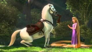 Download Rapunzel n Flynn meet Maximus scene from Tangled HD Video