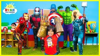 Download Ryan and Marvel Avengers EndGame Superheroes finds Infinity Stones Video