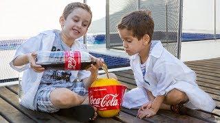 Download PAULINHO CIENTISTA e o Melão com Coca Cola e Mentos - Experiencia para Crianças Video
