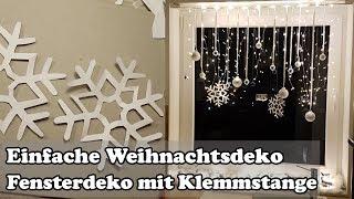 Download DIY: Fenster Weihnachtsdeko mit Gardinenstange / Christmas window decoration Video