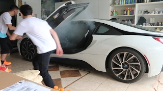 Download SETTING MY BROTHERS BMW i8 ON FIRE PRANK!! Video