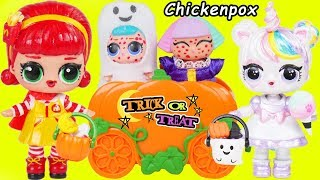 Download LOL Surprise Dolls Lil Sisters Trick or Treat with Chicken Pox at Playmobil Police Toy Wave 2 Video