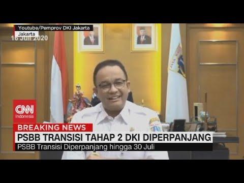Anies Resmi Perpanjang PSBB Transisi Jakarta Hingga 30 Juli