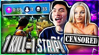 Download 1 KILL = REMOVE 1 CLOTHING PIECE ON FORTNITE (BEST ONE YET) #3 Video