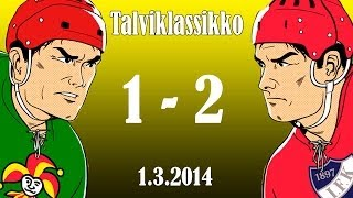 Download Jokerit-HIFK 1-2 1.3.2014 Talviklassikko kooste HD Video