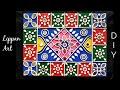 Download Lippan art | Gujrati kutch work | Mirror mud work- DIY Lippan Work on wooden panel Video