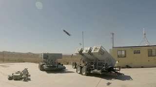 Download Watch the Navy's LOCUST launcher fire a swarm of drones Video