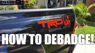 Download How to Properly Debadge Your Tacoma Video