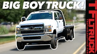 Download When a Dually Just Won't Do - This Chevy Silverado HS 5500 Is The Biggest Truck GM Builds! Video
