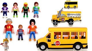 Download Learn Sizes Colors Numbers w/Playmobil School Bus Cars Vehicles Toys for Kids Video