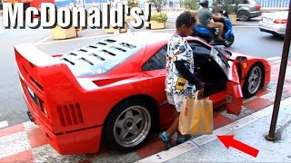 Download Aller au McDo en FERRARI F40 à Monaco! Video