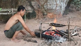Download Primitive Solution, The way to living And Finding Food in the Forest, Primitive Fishing and Cooking Video