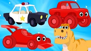 Download Race Cars, Police Cars, Dinosaurs, trucks + firetrucks superheroes(Morphle's Crazy Dream Kids Video) Video