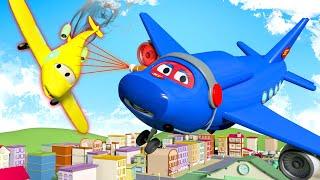 Download Máy bay phản lực - Siêu xe tải Carl 🚚⍟ những bộ phim hoạt hình về xe tải Video